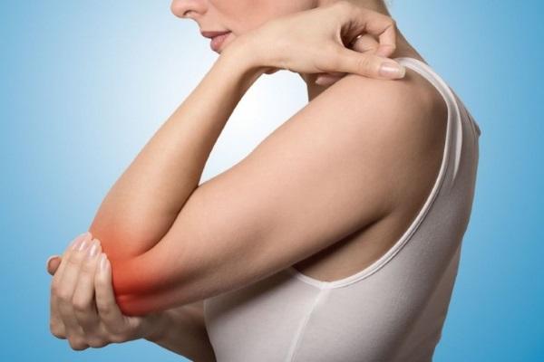 Псориатический артрит, у женщины болит локоть