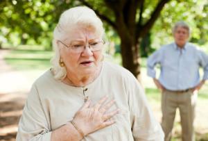 у бабушки одышка