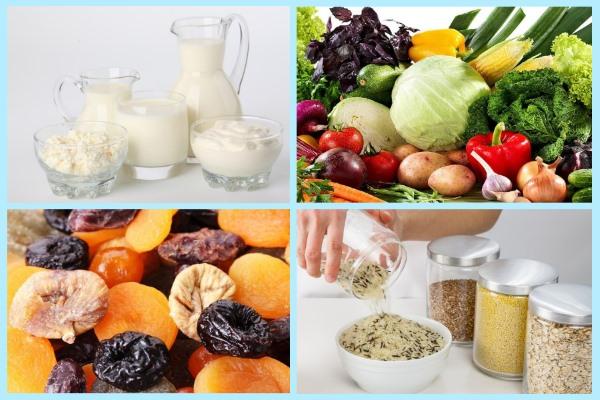 Полезные продукты при артрите: молочнокислые, овощи, сухофрукты, крупы